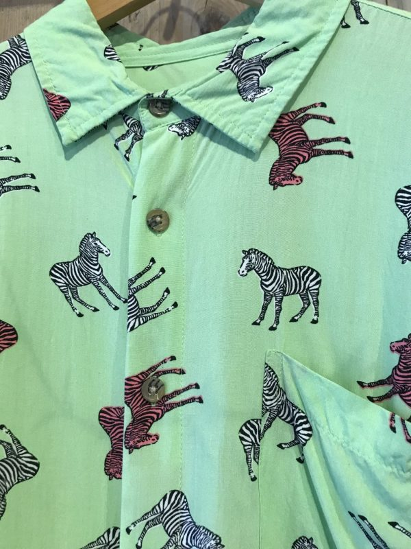 Zebra blouse details