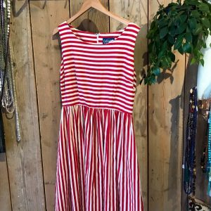 Retro jurk rood wit